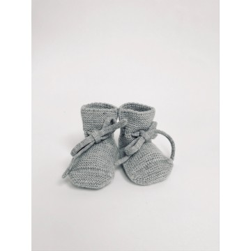 Hvid Grey Merino Wool Booties