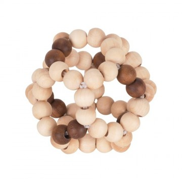 Untreated Natural Wood Touch Ring Elastic Ball