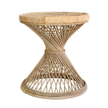 HK Living rattan peacock side table